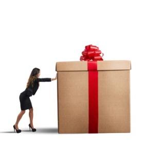 Businesswoman present